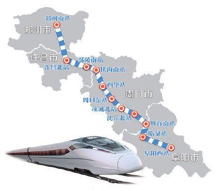 【商机】发改委批复郑州至周口至阜阳铁路投资逾400亿